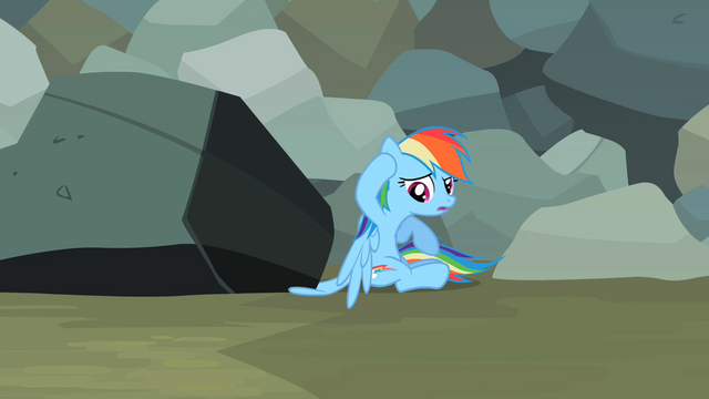 File:Rainbow Dash sees wing stuck under rock S2E07.png