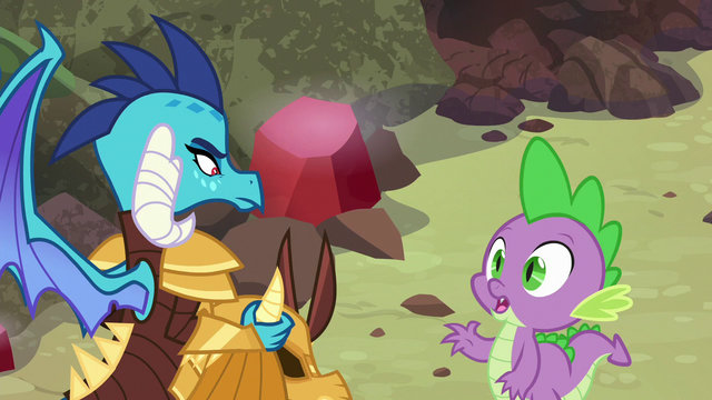 """File:Spike """"I could ask you the same thing"""" S6E5.png"""
