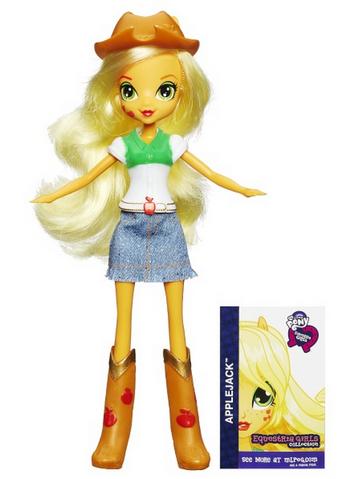 File:Applejack Equestria Girls show attire doll.png