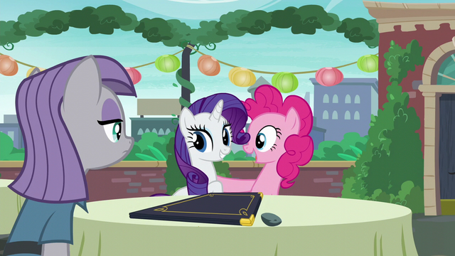 """File:Pinkie acting """"You are very welcome, Rarity!"""" S6E3.png"""