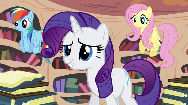 File:Rarity relieved by Twilight's arrival S4E01.png