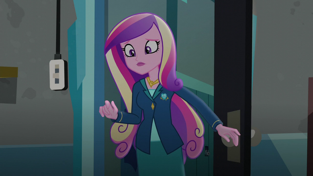 File:Dean Cadance surprised by what she sees EG3.png