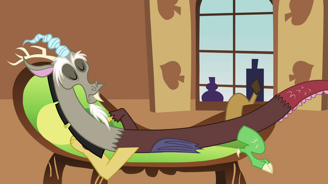 File:Discord lounging on Fluttershy's couch S03E10.png