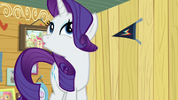 Rarity scoffing playfully S7E6