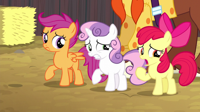 File:Cutie Mark Crusaders caught in their lie S5E6.png