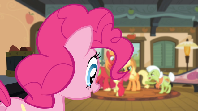 File:Pinkie Pie looking at the Apples arguing S4E09.png