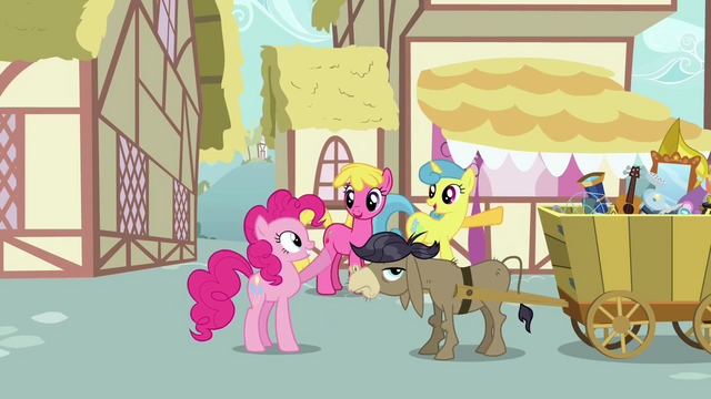 File:Pinkie waving at Lemon Hearts and Cherry Berry S2E18.png