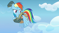 Rainbow Dash about to follow her cutie mark S6E24