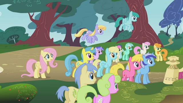 File:The ponies listen to Twilight S1E07.png