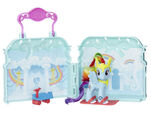 Explore Equestria Rainbow Dash Cloudominium Playset open