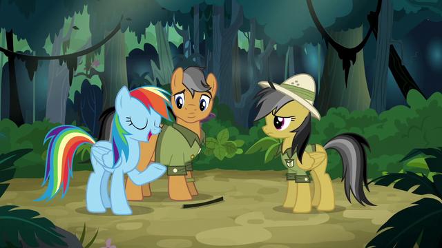 "File:Rainbow Dash ""he's a fan"" S6E13.png"