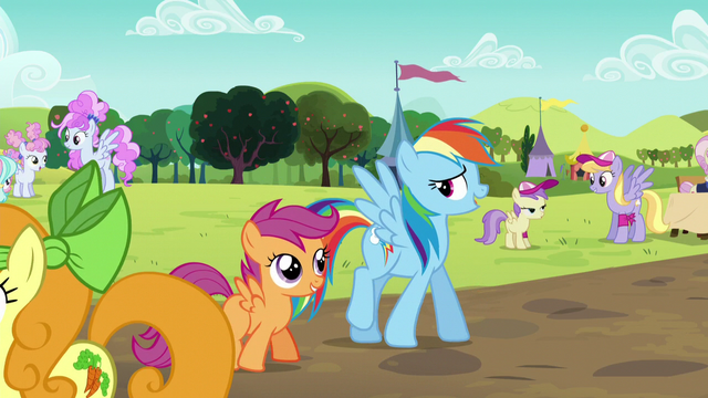 File:Rainbow and Scootaloo at the Sisterhooves Social S5E17.png