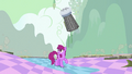 Berryshine notices fake buildings of Ponyville falling down S2E02.png