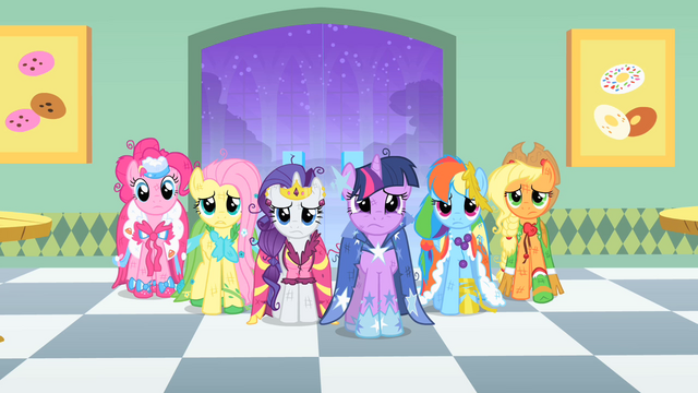 File:Main ponies at the donut shop S01E26.png