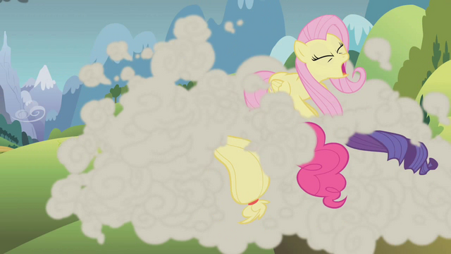 File:The ponies head for the mountain S1E07.png