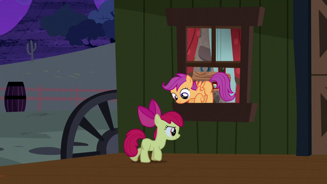 File:Apple Bloom and Scootaloo sneaking out S5E6.png