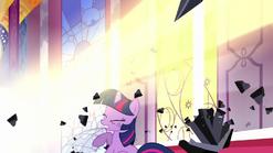 Celestia destroys the dark crystals S3E01