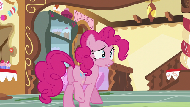"File:Pinkie ""I obviously can't be around my friends right now"" S5E19.png"