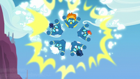 Wonderbolts burst through artificial insignia S7E7