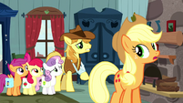 Applejack and CMC hear Braeburn S5E6