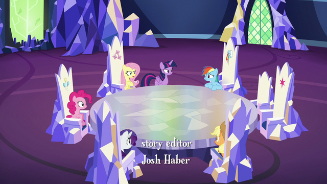 File:Mane Six assembled in the throne room S6E15.png
