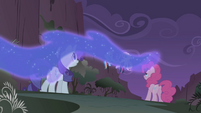 Nightmare Moon mist at the cliff bottom S1E02