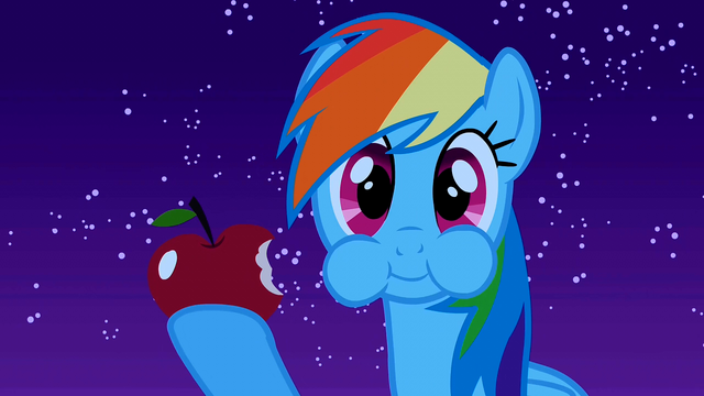 File:Rainbow Dash eating S1E24.png