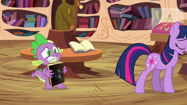 File:Spike holding Star Swirl's book S03E13.png