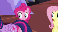 Pinkie looks at Twilight S5E11