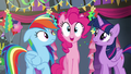 Pinkie pops in between Rainbow and Twilight S6E7.png