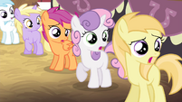 Fillies looking shocked S4E13