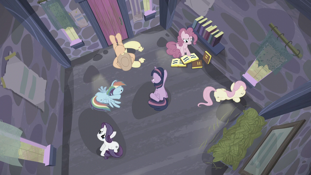File:Mane 6 sit in the house S5E02.png