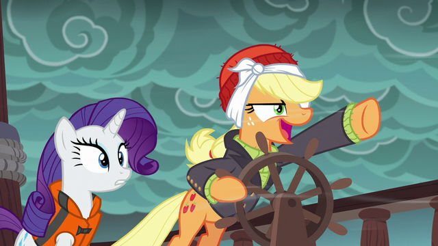 """File:Pirate Applejack """"is that all you've got?!"""" S6E22.png"""