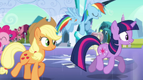 "Rainbow Dash boasting ""awesome at it"" S03E12"