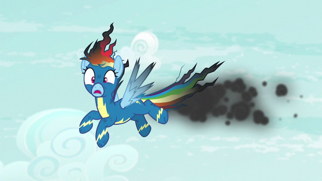 File:Rainbow Dash covered in soot S6E7.png