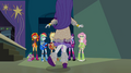 Rarity arrives in awkward heavy outfit EG2.png
