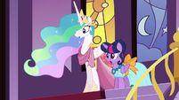 Celestia and Twilight shocked S5E7