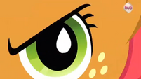 Close-up to Babs Seed's eye S3E4