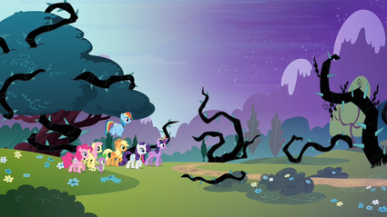 Main 6 walking towards the Everfree Forest S4E02.png