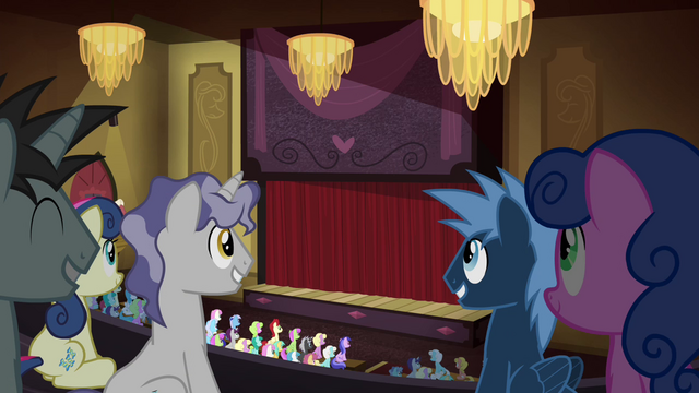 File:Ponies in an auditorium S4E25.png