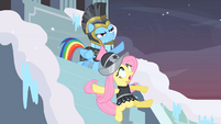 Private Pansy slipping on ice S2E11