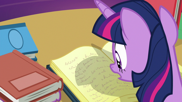File:Twilight Sparkle consulting her books S6E19.png