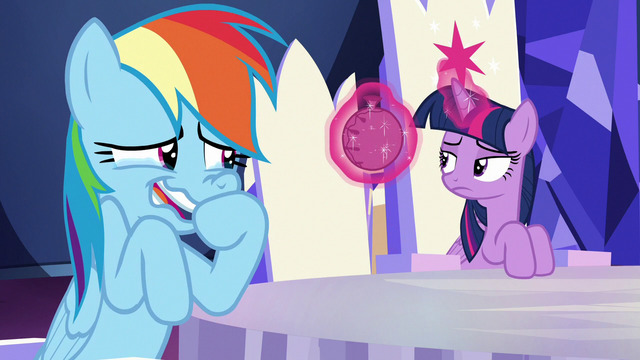 File:Twilight finds whoopee cushion in her throne S6E15.png