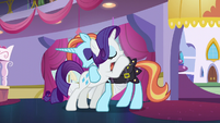 Rarity hugging Sassy Saddles again S5E14