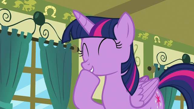 File:Twilight Sparkle laughing at Spike S7E3.png