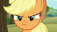 Applejack's scowl close-up S6E6