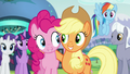 Applejack and Pinkie smiling S5E24.png