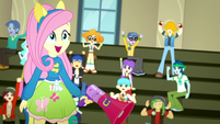 "Fluttershy and students cheer ""Yay!"" again SS4"