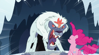 Monster roars at Pinkie S5E11