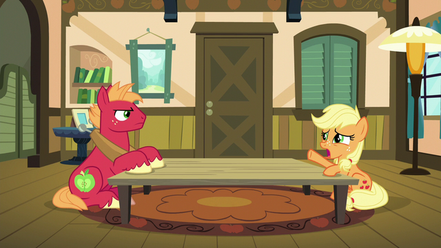 "File:Young Applejack ""what was I supposed to do?"" S6E23.png"